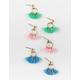 FULL TILT 3 Pairs Mini Tassel Earrings