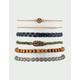 FULL TILT 6 Pack Feather & Braid Bracelets
