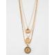 FULL TILT Layered Cutout Hexagon Gold Necklace