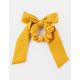 FULL TILT Mustard Bow Scrunchie