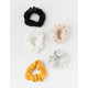 5 PC RIBBED SCRUNCHIE SET