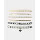 FULL TILT 6 Pack Rose & Bead Bracelets