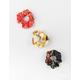 FULL TILT 3 Pack Chain Print Scrunchies