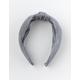 FULL TILT Striped Top Knot Gray Headband
