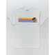RSQ Santa Monica Stripe White Mens T-Shirt