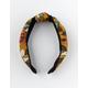 FULL TILT Floral Top Knot Mustard Headband