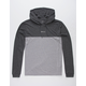 RVCA Center Front Black & Gray Mens Lightweight Hoodie