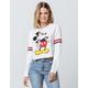 MIGHTY FINE Mickey Mouse Womens Crop Sweatshirt