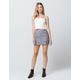 IVY & MAIN Side Button Mini Skirt
