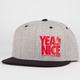 YEA.NICE Fun Times Mens Snapback Hat