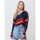 FULL TILT Variegated Stripe Womens Hooded Sweater