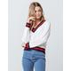 FULL TILT V-Neck Collegiate White Womens Sweater