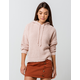 SKY AND SPARROW Chenille Blush Womens Hooded Sweater