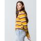 FULL TILT Stripe Mustard Womens Crop Sweatshirt