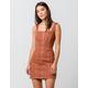 CHLOE & KATIE Zip Front Structured Dress