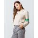 FULL TILT Sleeve Stripe Cream Womens Top