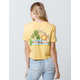 VOLCOM Tropic CA Womens Crop Tee