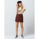 SKY AND SPARROW Button Front Linen Mini Skirt