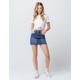 SKY AND SPARROW Side Stripe Denim Mini Skirt