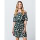 HEART & HIPS Floral Smock Off The Shoulder Dress