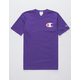 CHAMPION Screen Logo Purple Mens T-Shirt