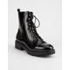 WILD DIVA Gigi Black Womens Combat Boots