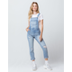 SKY AND SPARROW Slouchy Ripped Womens Denim Overalls