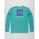 THE NORTH FACE Red Box Teal Blue Mens T-Shirt
