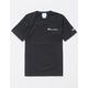 CHAMPION Embroidered Script Logo Black Mens T-Shirt