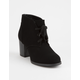 SODA Ripley Black Womens Heeled Boots