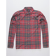 HURLEY Kurt Red Mens Flannel Shirt