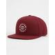 BRIXTON Oath III Burgundy Mens Snapback Hat