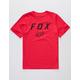 FOX Legacy Moth Dark Red Boys T-Shirt