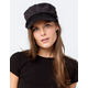 DAVID AND YOUNG Corduroy Black Womens Fiddler Cap