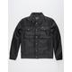 MEMBERS ONLY Textured Black Mens Trucker Jacket