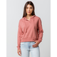 SKY AND SPARROW Button Collar Light Pink Womens Hoodie