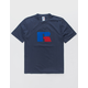 RUSSELL ATHLETIC Jerry Flock Navy Mens T-Shirt