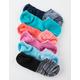 FULL TILT 6 Pack Multi Space Dye Womens No Show Socks