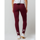 ADIDAS Trefoil Maroon Womens Leggings