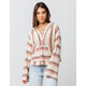 BILLABONG Baja Beach White Womens Hooded Sweater