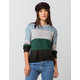 SKY AND SPARROW Wide Stripe Womens Sweater
