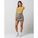 IVY & MAIN Half Zip Plaid Mini Skirt