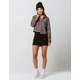 SKY AND SPARROW Side Button Up Black Mini Skirt