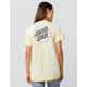 SANTA CRUZ Missing Dot Tie Dye Yellow Womens Tee