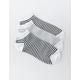 FULL TILT 3 Pack Stripe Womens Ankle Socks