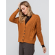 SKY AND SPARROW Cable Knit Camel Womens Grandpa Cardigan