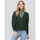 SKY AND SPARROW Cable Knit Emerald Womens Grandpa Cardigan