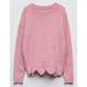 IT'S OUR TIME Chenille Scallop Girls Sweater