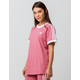 ADIDAS Originals Three Stripes Pink Womens Ringer Tee