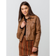 SKY AND SPARROW Classic Faux Leather Womens Jacket